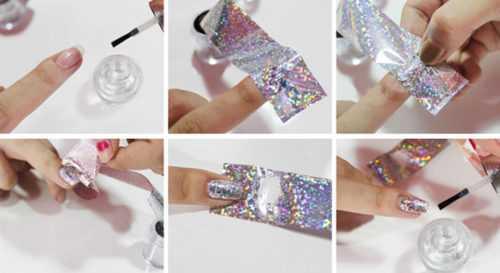как пользоваться фольгой для дизайна ногтей